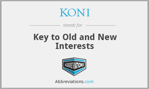 What does KONI stand for?