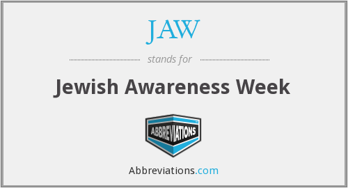 JAW - Jewish Awareness Week