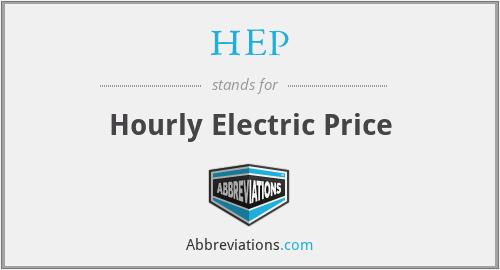 HEP - Hourly Electric Price