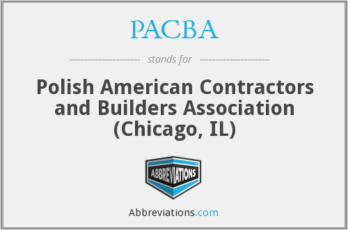 What does PACBA stand for?