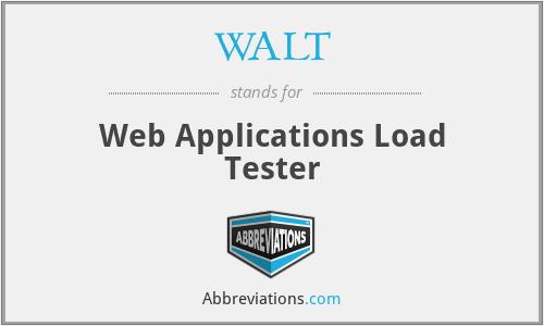 WALT - Web Applications Load Tester