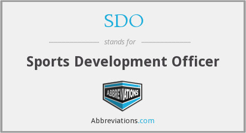 SDO - Sports Development Officer