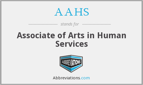 AAHS - Associate of Arts in Human Services