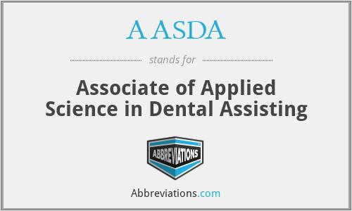 AASDA - Associate of Applied Science in Dental Assisting