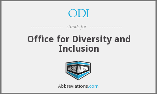 ODI - Office for Diversity and Inclusion