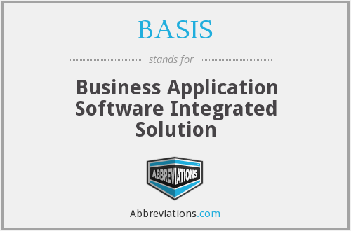 BASIS - Business Application Software Integrated Solution