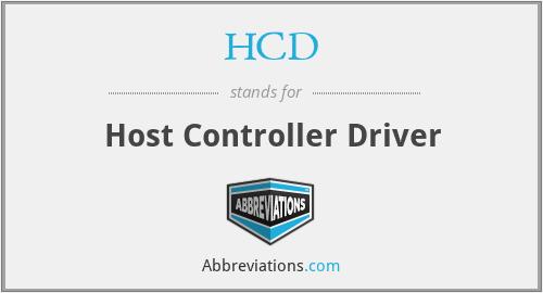 HCD - Host Controller Driver