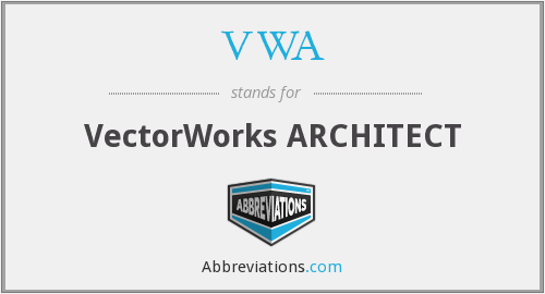 VWA - VectorWorks ARCHITECT