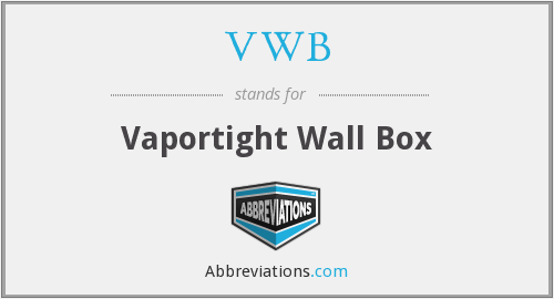 VWB - Vaportight Wall Box