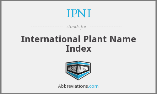 IPNI - International Plant Name Index
