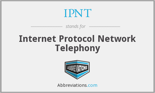 IPNT - Internet Protocol Network Telephony