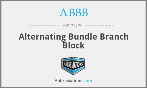 ABBB - Alternating Bundle Branch Block