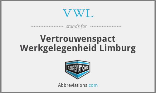 VWL - Vertrouwenspact Werkgelegenheid Limburg