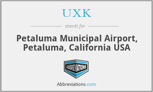 UXK - Petaluma Municipal Airport, Petaluma, California USA