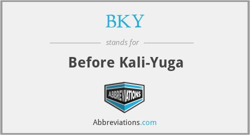 BKY - Before Kali-Yuga