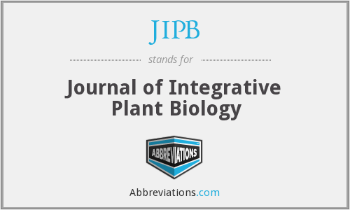 JIPB - Journal of Integrative Plant Biology