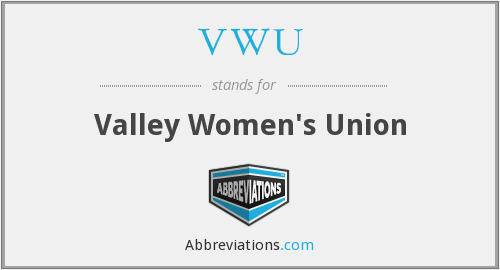 VWU - Valley Women's Union