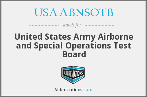What does USAABNSOTB stand for?