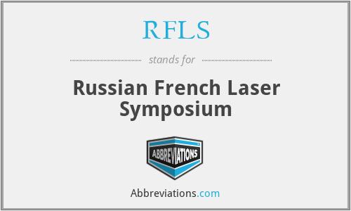 RFLS - Russian French Laser Symposium