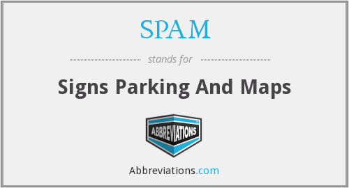 SPAM - Signs Parking And Maps