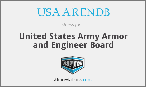 What does USAARENDB stand for?
