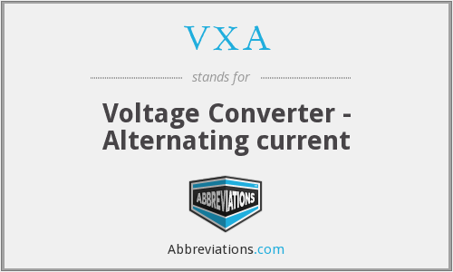 VXA - Voltage Converter - Alternating current