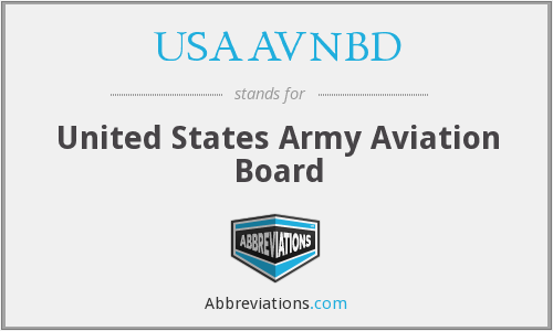 What does USAAVNBD stand for?