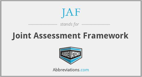 JAF - Joint Assessment Framework
