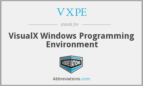 VXPE - VisualX Windows Programming Environment