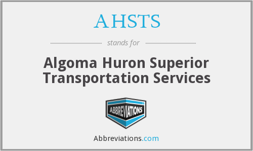 AHSTS - Algoma Huron Superior Transportation Services