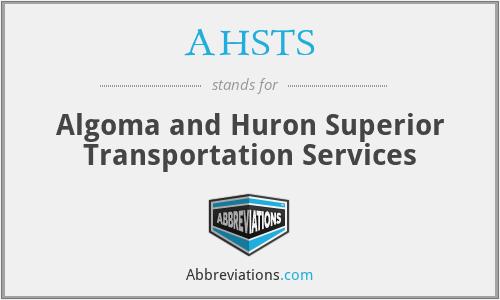 AHSTS - Algoma and Huron Superior Transportation Services