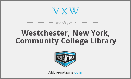 VXW - Westchester, New York, Community College Library
