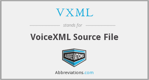 VXML - VoiceXML Source File
