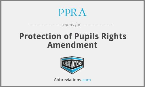 PPRA - Protection of Pupils Rights Amendment