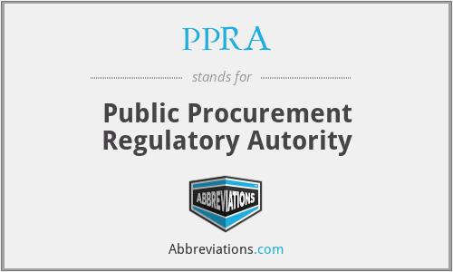 PPRA - Public Procurement Regulatory Autority