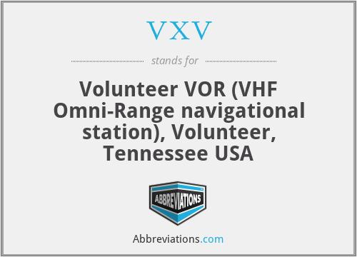 VXV - Volunteer VOR (VHF Omni-Range navigational station), Volunteer, Tennessee USA