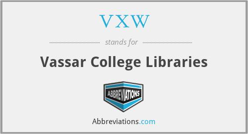 VXW - Vassar College Libraries