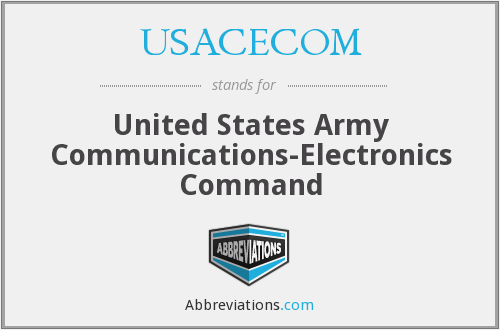 What does USACECOM stand for?