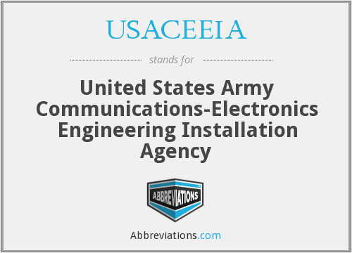 USACEEIA - United States Army Communications-Electronics Engineering Installation Agency