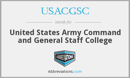 What does USACGSC stand for?