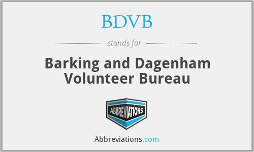 BDVB - Barking and Dagenham Volunteer Bureau