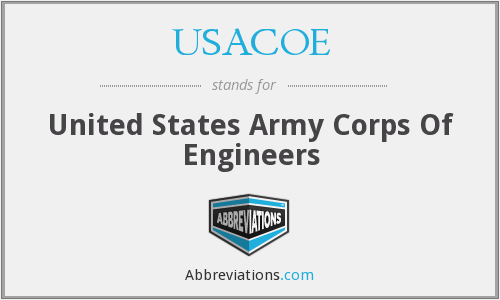 What does USACOE stand for?