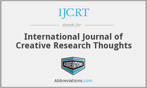 IJCRT - International Journal of Creative Research Thoughts
