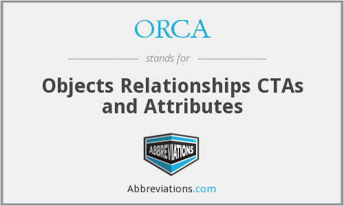 ORCA - Objects Relationships CTAs and Attributes