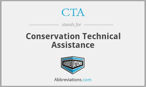 CTA - Conservation Technical Assistance