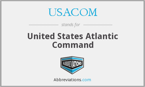 What does USACOM stand for?