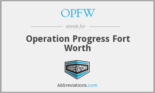 What does OPFW stand for?