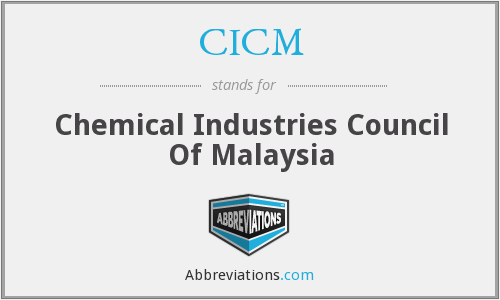 CICM - Chemical Industries Council Of Malaysia