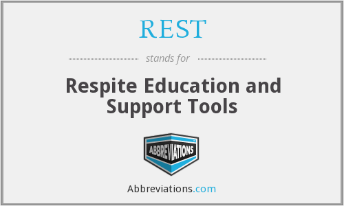 REST - Respite Education and Support Tools