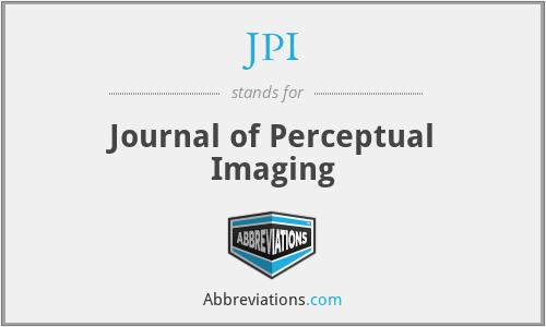 JPI - Journal of Perceptual Imaging